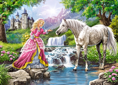 Little Lady and her Horse - 108pc Jigsaw Puzzle By Castorland (discon)
