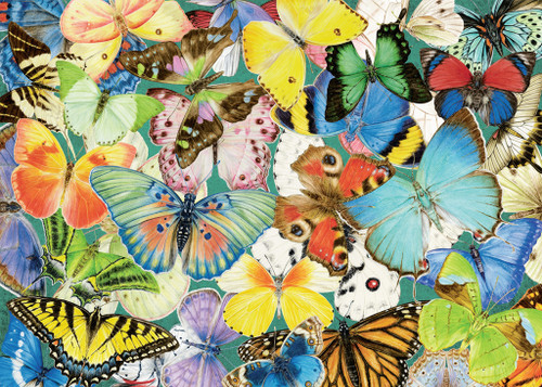 Butterflies - 500pc Large Format Jigsaw Puzzle By Ravensburger