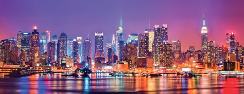 Manhattan Lights - 1000pc Panoramic Jigsaw Puzzle by Ravensburger