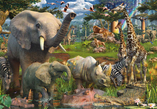 Ravensburger Jigsaw Puzzles - At the Waterhole