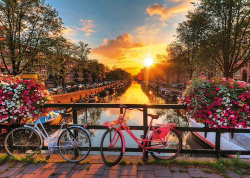 Bicycles in Amsterdam - 1000pc Jigsaw Puzzle by Ravensburger