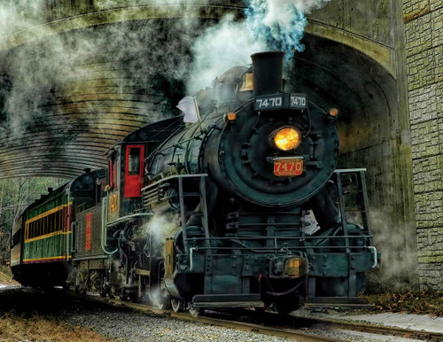 Green Mountian Express - 500pc Jigsaw Puzzle By Springbok