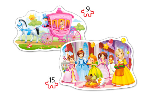 The Princess Ball - 2 x 9pc Jigsaw Puzzle By Castorland