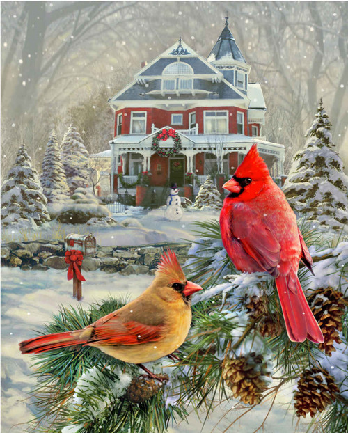 Cardinal Holiday Retreat - 1000pc Jigsaw Puzzle By Springbok