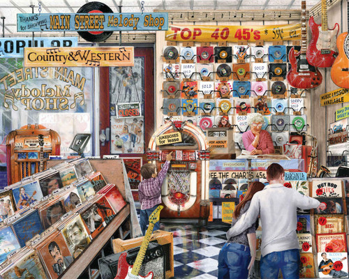 The Melody Shop - 1000pc Jigsaw Puzzle By Springbok