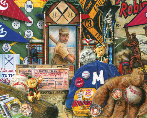 Vintage Baseball - 1000pc Jigsaw Puzzle By Springbok