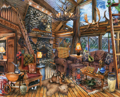 The Hunting Lodge - 1000pc Jigsaw Puzzle By Springbok