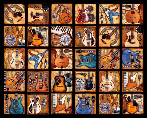 Six String Symphony - 2000pc Jigsaw Puzzle By Springbok