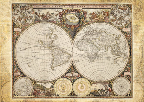 Schmidt Historical World Map Jigsaw Puzzle