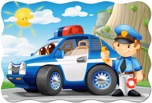 Police Patrol - 20pc Jigsaw Puzzle By Castorland (discon-24009)