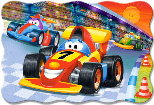 Racing Action - 20pc Jigsaw Puzzle By Castorland (discon-24013)