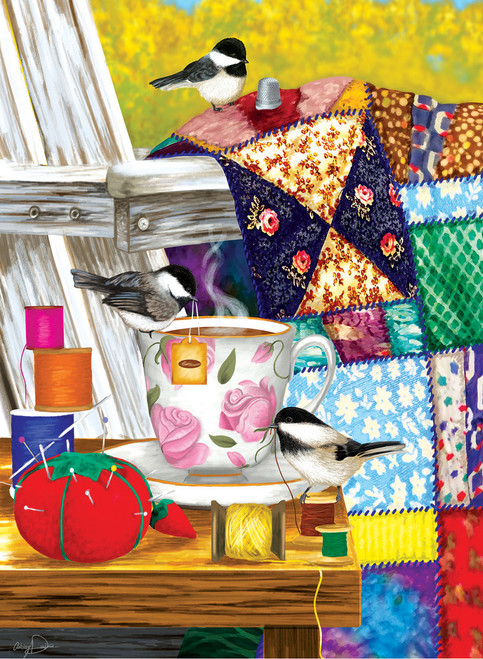 Afternoon Quilt Mending - 500+pc Large Format Puzzle by SunsOut