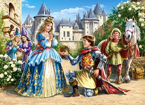 Princess and Knight - 300pc Jigsaw Puzzle By Castorland (discon)