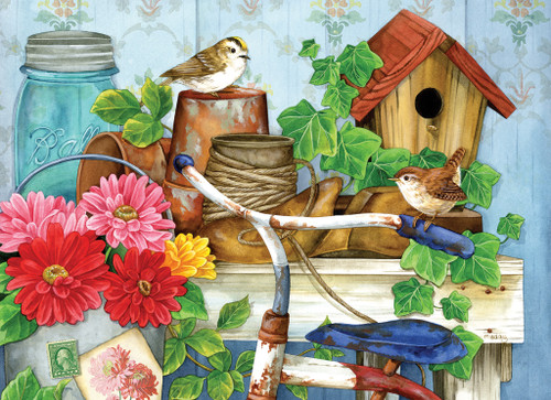 The Old Garden Shed - 500+pc Large Format Jigsaw Puzzle by SunsOut