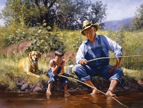 Jigsaw Puzzles - Fishing with Grandpa