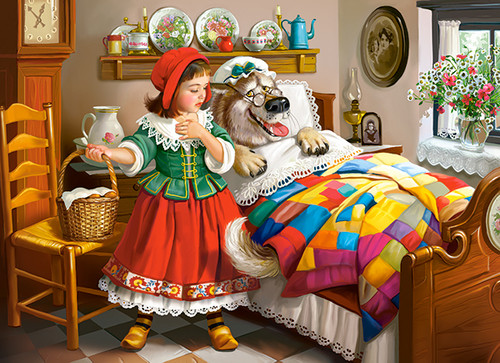 Little Red Riding Hood - 300pc Jigsaw Puzzle By Castorland (discon-24026)