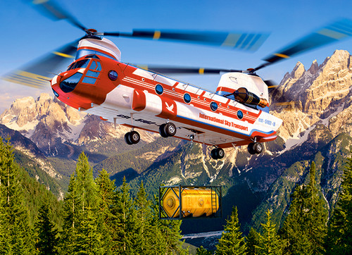 Sky Transport - 300pc Jigsaw Puzzle By Castorland