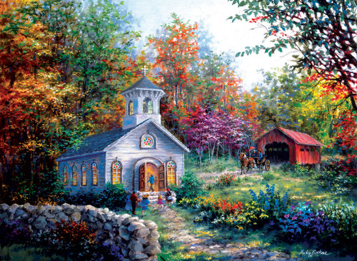 Worship in the Countryside - 1500pc Jigsaw Puzzle by SunsOut