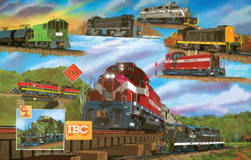 For the Love of Trains - 1000pc Jigsaw Puzzle by SunsOut (discon-20734)