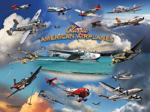Classic American Planes - 1000pc Jigsaw Puzzle by Sunsout