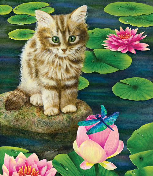 Lily's Pond - 200pc Jigsaw Puzzle by SunsOut (discon-20437)