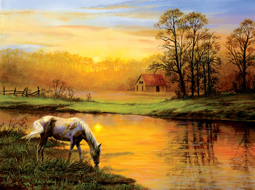 Pastoral Moment - 1000pc Jigsaw Puzzle by Sunsout (discon-21321)