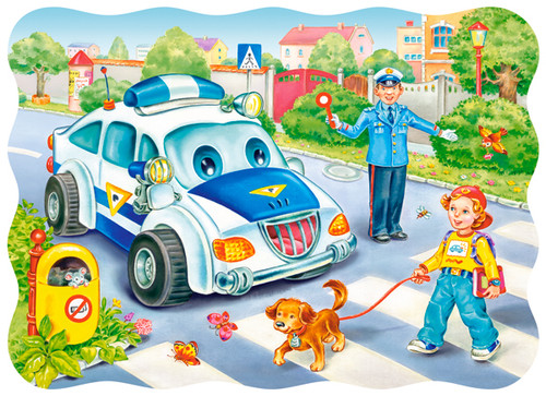 Way to School - 30pc Jigsaw Puzzle By Castorland (discon-24039)