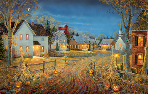 A Country Town in Autumn - 550pc Jigsaw Puzzle by SunsOut (discon-20478)