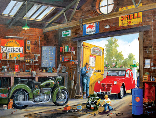 Following in Dad's Footsteps - 300pc Large Format Jigsaw Puzzle by Sunsout