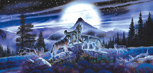 Night Wolves - 1000pc Jigsaw Puzzle by SunsOut