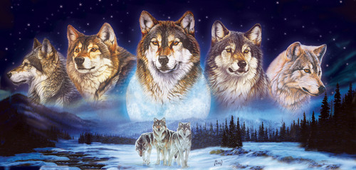 Wolves in the Snow - 1000pc Jigsaw Puzzle by SunsOut (discon-20681)