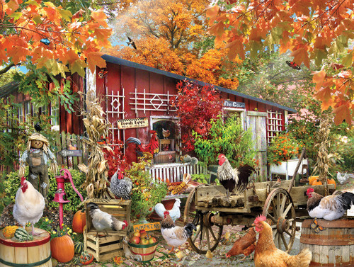 Barnyard Chickens - 500pc Jigsaw Puzzle by SunsOut