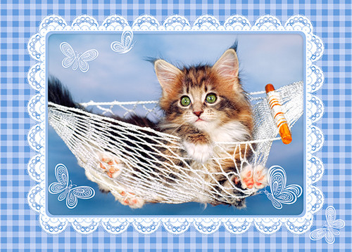 Lazy Kitten - 35pc Jigsaw Puzzle By Castorland (discon-24052)