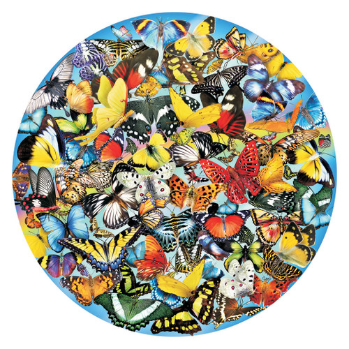 Butterflies in the Round - 1000pc Jigsaw Puzzle by SunsOut