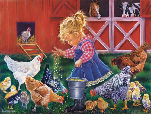 Farm Girl - 300pc Jigsaw Puzzle By Sunsout