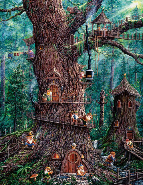 Large Format Jigsaw Puzzles - Forest Gnomes