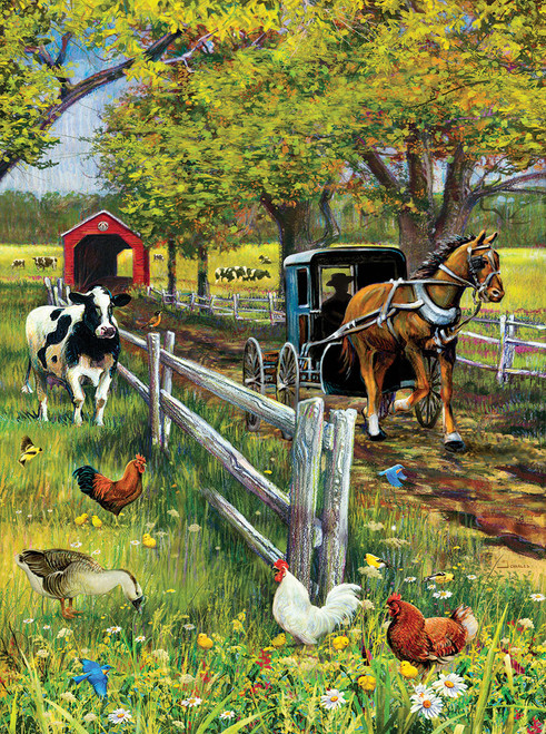 Horse and Buggy - 1000pc Jigsaw Puzzle by SunsOut (discon)