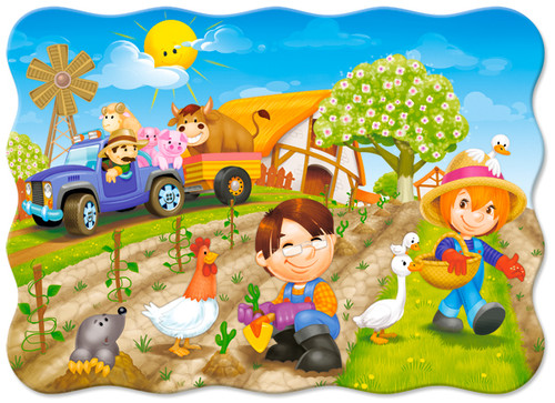 A Day on the Farm - 30pc Jigsaw Puzzle By Castorland (discon-24059)
