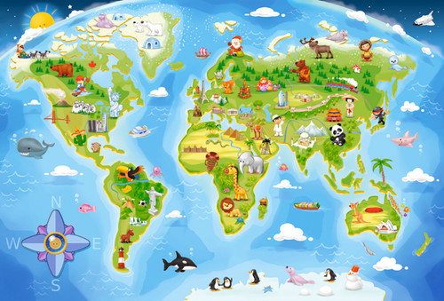 World Map  - 40pc Jigsaw Puzzle By Castorland (discon-24067)