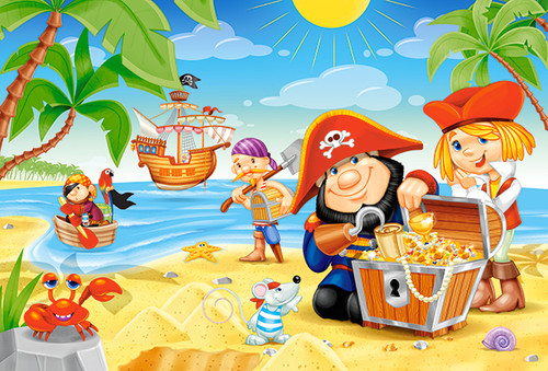 Pirate Treasures - 40pc Jigsaw Puzzle By Castorland (discon-24068)
