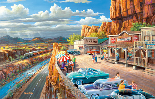 Vacationing in the USA - 300pc Large Format Jigsaw Puzzle by SunsOut (discon)