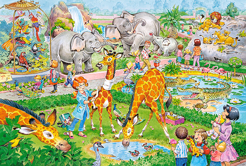 At the Zoo - 40pc Jigsaw Puzzle By Castorland (discon-24071)