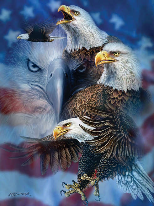 Jigsaw Puzzles - Patriotic Eagles