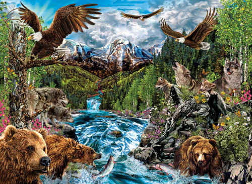 Wolf Puzzles - The River Of Life