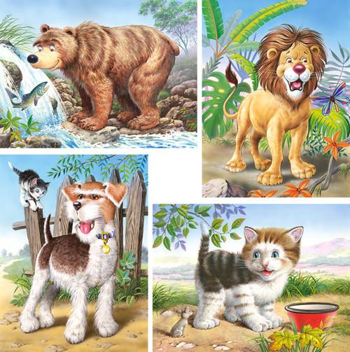 Animals - 8,12,15,20pc Jigsaw Puzzle By Castorland