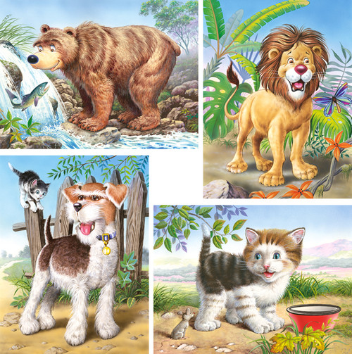 Animals - 8,12,15,20pc Jigsaw Puzzle By Castorland