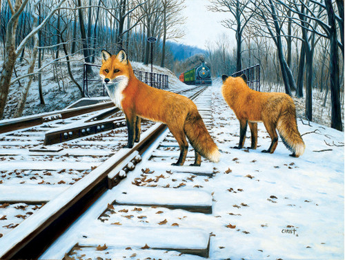 Fox Tracks - 500pc Jigsaw Puzzle by Sunsout