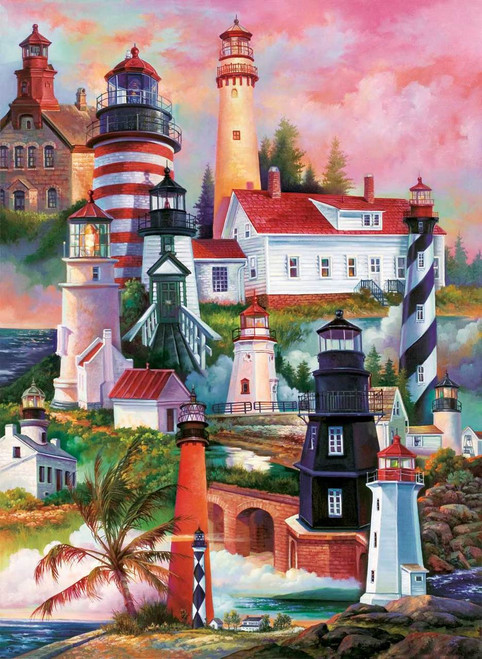 Lighthouses - 1500pc Jigsaw Puzzle by Sunsout (discon ...