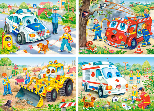 Funny Vehicles - 8,12,15,20pc Jigsaw Puzzle By Castorland