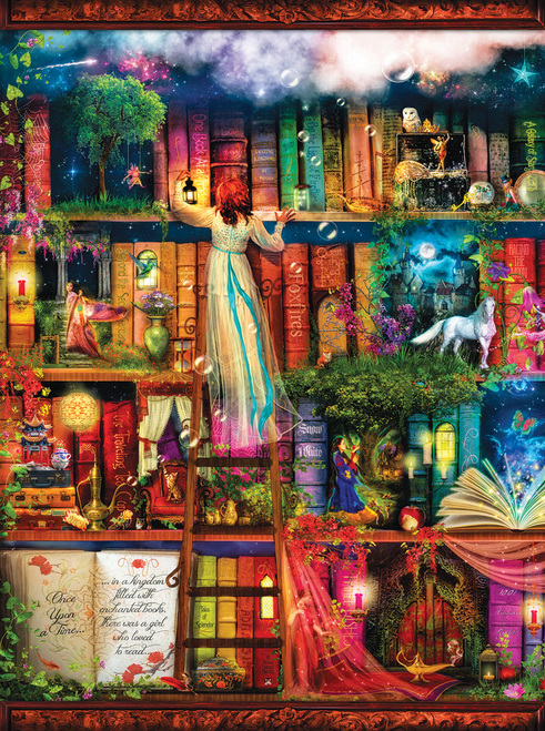 Amiee Stewart: Treasure Hunt Bookshelf - 1000pc Jigsaw Puzzle by SunsOut